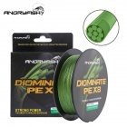 ANGRYFISH Diominate PE X8 Fishing Line 500M/547YDS 8 Strands Braided Fishing Line Multifilament Line Army Green 3.0#:0.28mm/40LB