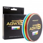 ANGRYFISH Diominate Multicolor X9 PE Line 9 Strands Weaves Braided 300m 327yds Super Strong Fishing Line 15LB 100LB 1 0   0 16mm 25LB
