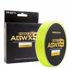 ANGRYFISH Diominate X9 PE Line 9 Strands Weaves Braided 300m/327yds Super Strong Fishing Line 15LB-100LB Yellow 3.0#: 0.28mm/40LB