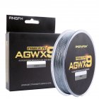 ANGRYFISH Diominate X9 PE Line 9 Strands Weaves Braided 300m/327yds Super Strong Fishing Line 15LB-100LB Gray 0.6#: 0.12mm/18LB