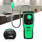 AS8800F Portable Combustible Gas Detector Methane natural Gas Leak Analyzer Tester(Without Battery) green