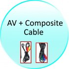 AV Cable and Composite Cable for CVJI E50 SD Card   USB Media Player for TV