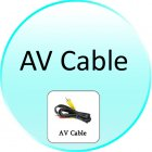AV Cable for CVASQ 013 TV Card Player   17 In 1 Memory Card Reader   USB HOST