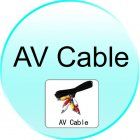 AV Cable for CVGI E28 Multimedia Projector with DVD Player