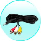 AV Cable for CVOC C46 DVB T Digital TV Receiver for Cars  MPEG 2