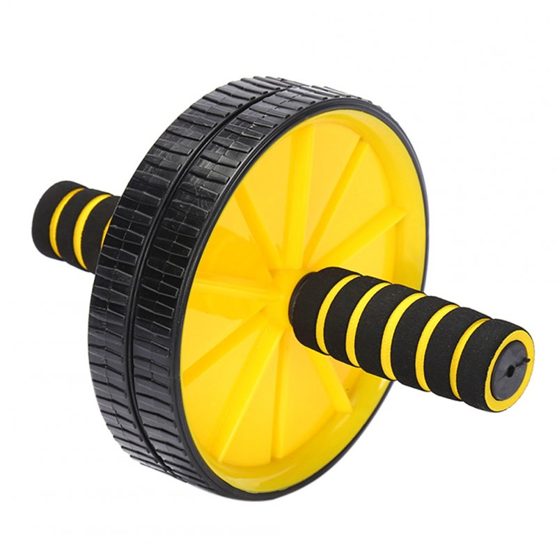 Abs Wheel Body Exercise Gym Roller Abdominal Core Exerciser Strength Workout Fitness Trainer yellow