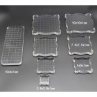 Acrylic Clear Stamp Block for Scrapbooking Photo Album Decor DIY Crafts Making 2.5*2.5*1CM marking small grid