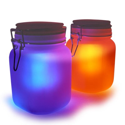 Moon Jar Solar LED Mood Light