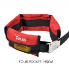 Adjustable 4/3 Pocket Diving Weight Belt With Stainless Steel Buckle Water Sport Equipment  red_4 pocket models