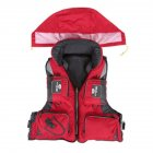 Adjustable Adult Safety Life Jacket Survival Vest for Swimming Boating Fishing  red XL