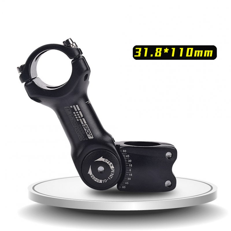 Adjustable Bicycle Stem Riser 25.4mm/31.8mm Road Mountain Bike Stem Aluminum Alloy Bicycle Parts Cycling Accessories MTB Stem Adjustable handle 31.8*110mm