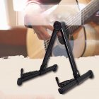 Adjustable Electric Guitar Holder Bracket Upright A-frame Instrument Stand for Acoustic Guitar Ukulele Bass Violin black