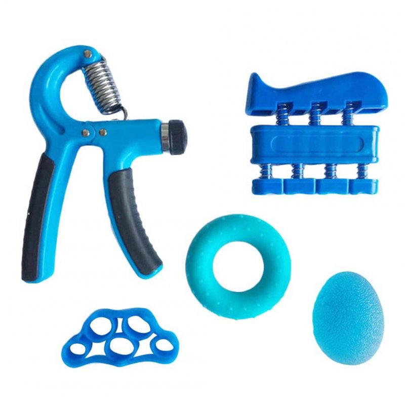 Adjustable Grip Device Set Grip Ball Five-finger Training Device Finger Force Device Fitness blue