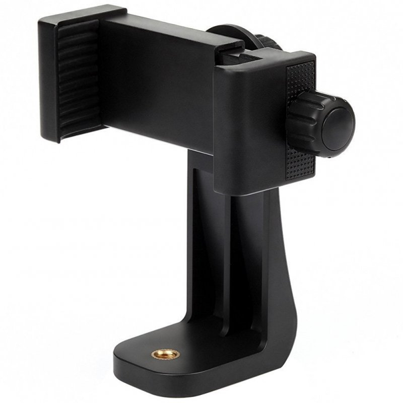 Adjustable Smartphone Tripod Adapter Holder Clip Mount Vertical Horizontal Clamp Selfie Stick black