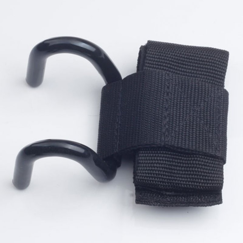 Adjustable Iron Hook Grips Straps Black 8cm