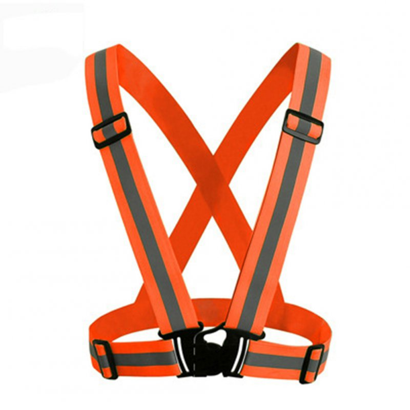 Adjustable V-shape Reflective Safety Vest Luminous Elastic Belt for Night Running Cycling Sports Outdoor Clothes Orange