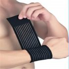 Adjustable Wrist Protection Elastic Bandage Band Strength Training Wrist Guard for Weightlifting Sports etc black