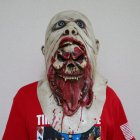 Adult Mask Horror Overhead Mask Headgear Stage Performance Prop for Halloween Party  light color