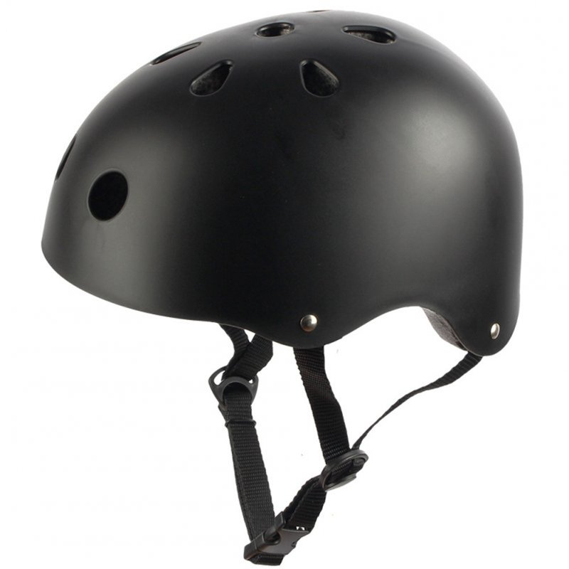 Adult Outdoor Sports Bicycle Road Bike Skateboard Safety Bike Cycling Helmet Head protector Helmet Matte-black_M