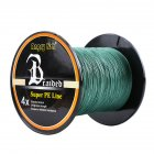 Advanced Professional 500m/547yds 4braid Solid Color Braided Fish Line - Dark Green 0.26mm-30lb