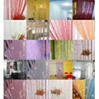 Ainest 1 x Fringe Crystal Beads String Curtain Tassel Door Window Room Divider 18 Color Sliver Gray