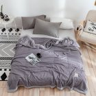 Air Condition Quilt Breathable Simple Summer Quilt for Home Beds Sleeping gray_150*200cm