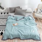 Air Condition Quilt Breathable Simple Summer Quilt for Home Beds Sleeping green 150 200cm