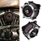 Air Filter Motorcycle Turbine Spike Intake Air Cleaner Filter System black