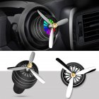 Air Freshener Car Air Perfume Mini Conditioning Vent Outlet Perfume Clip  No. 3 with lights (night black)