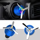 Air Freshener Car Air Perfume Mini Conditioning Vent Outlet Perfume Clip  No. 3 with lights (deep sea blue)