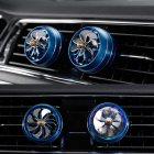 Air Freshener Car Air Perfume Mini Conditioning Vent Outlet Perfume Clip  No  8 with lights  deep sea blue