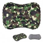 Air Pillow Outdoor Camping Indoor Inflatable Pillow Waist Pillow Camouflage green