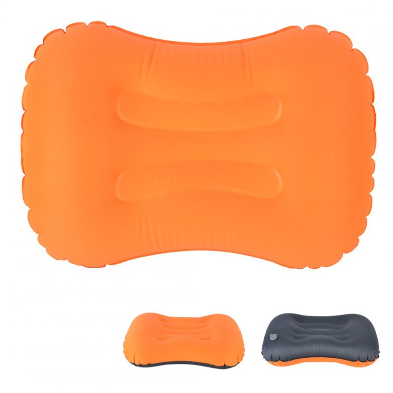 Air Pillow Outdoor Camping Indoor Inflatable Pillow Waist Pillow Orange