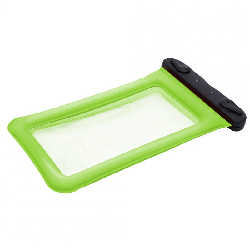 Airbag Floating Mobile Phone Waterproof Cover Transparent Swimming Touch Screen Waterproof Cover green