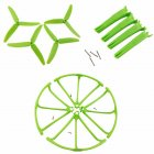 Aircraft Upgrade Parts Landing Gear + Propeller + Protective Cover for Hubsan X4 H502S H502E H502T H507A H216A green