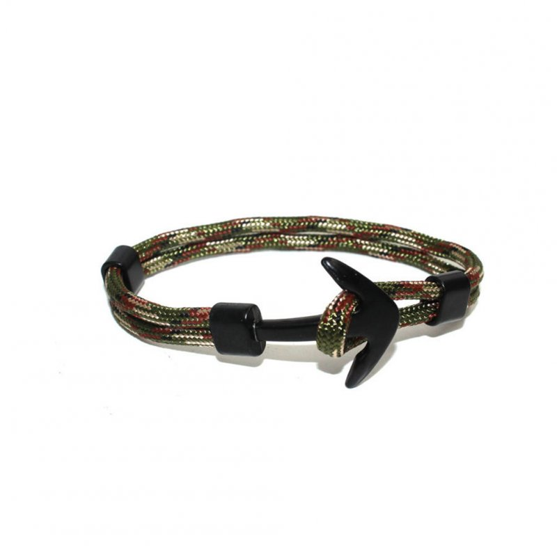 Airplane Anchor Bracelets Charm Rope 550 Paracord Bracelet Sport Hooks Bracelet Sport 3 army green white coffee