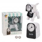 Alarm Robot Kid Toy Deformation Table Clocks Creative Cartoon Desk Clock Kids Gift white