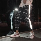 All Matching Unisex Hip Hop Sport Slacks Fashion Comic Pattern Ninth Pants black_M