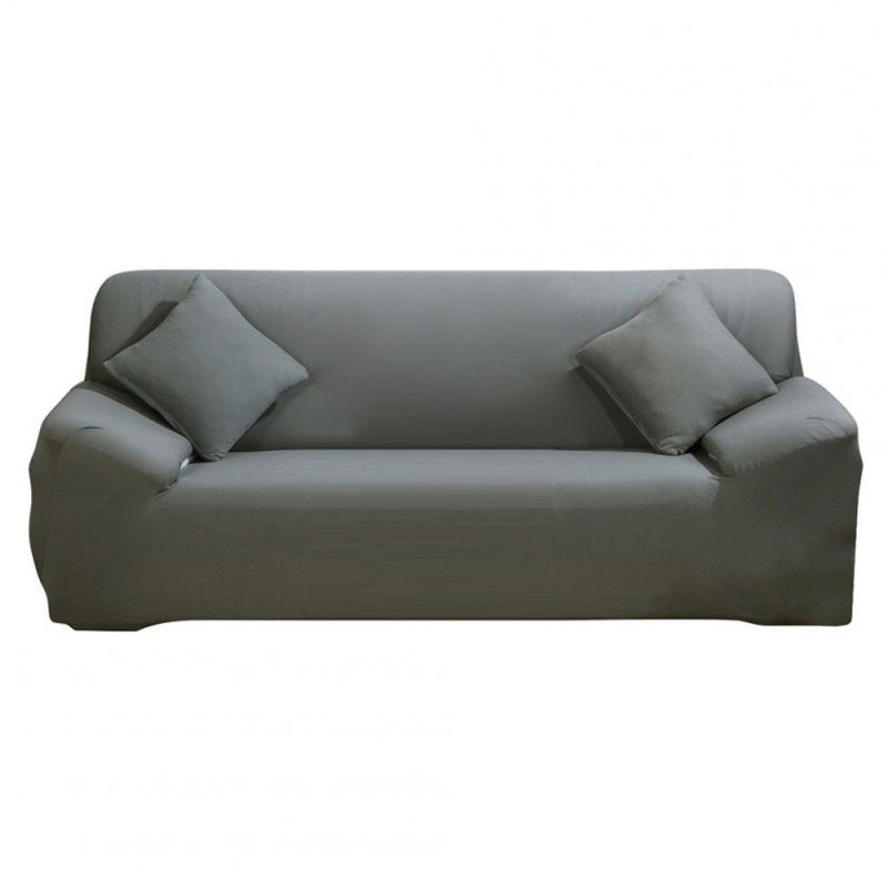 All-Season Elastic Full-wrap Anti-slip Sofa Cover Home Decoration gray_Four people 235-310cm (90