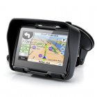 All Terrain 4 3 Inch GPS Navigation System For Motorcycle has an IPX7 Waterproof Rating  4GB Internal Memory and Bluetooth connectivity