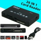 All in One Memory Card Reader USB External SD Mini Micro M2 MMC XD Fast black_black