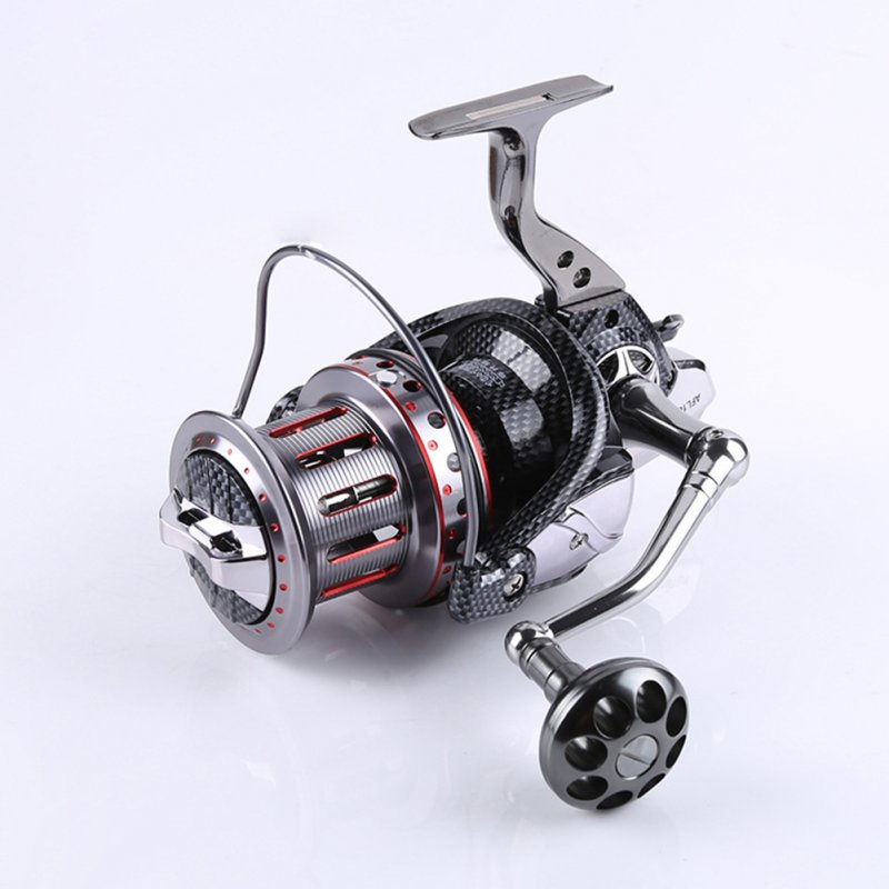 All-metal Large Fishing Reel Stainless Steel Bearings Spinning Wheel Reel Bait Casting Reel Boat Sea Fishing Wheel 8000