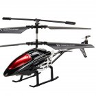 Alloy 3.5 Channels RC Helicopter Fall Resistant Electronic Charging Plane Model Toys for Kids black