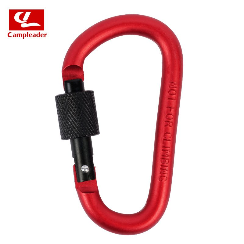 Aluminium Alloy Keychain Climbing Button Carabiner Safety Buckle Outdoor Camping Accessories red