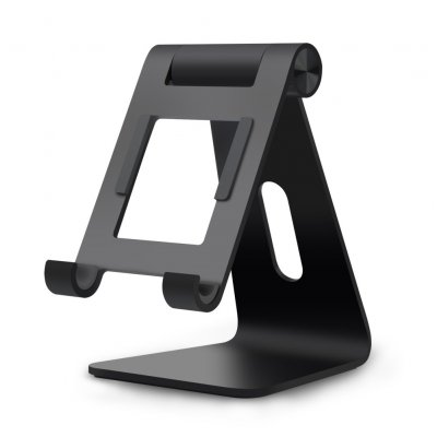 Aluminum Alloy Base Mobile Phone Ipad Table Holder Easy to Carry black
