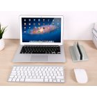 Aluminum Alloy Bracket Bookshelf Vertical Storage Stand for Laptop Notebook Holder Support  Silver