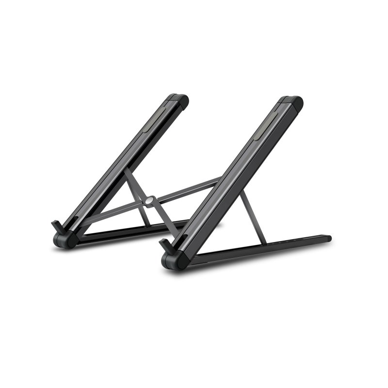 Aluminum Alloy Laptop Stand Adjustable Folding Portable Holder for Notebook Computer Bracket Lifting Cooling Holder  black