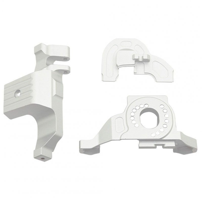 Aluminum Alloy Motor Mounted Bracket Upgrade Parts for 1/10 RC Tracked Traxxas TRX4 Defender Mustang Silver