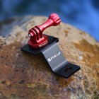 Aluminum Alloy Motorcycle Holder Mount for GoPro DJI Osmo Action Accessories red