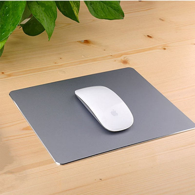 Aluminum Alloy Mouse Pad with Non-Slip Rubber Bottom Gaming Mouse Mat Space gray
